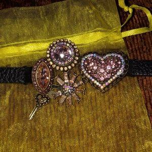 Betsey Johnson belt bracelet